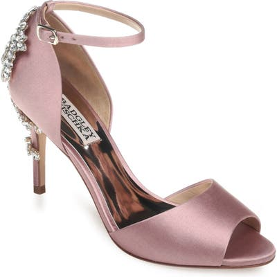 Badgley Mischka Vienna Crystal Embellished Ankle Strap Pump, Pink