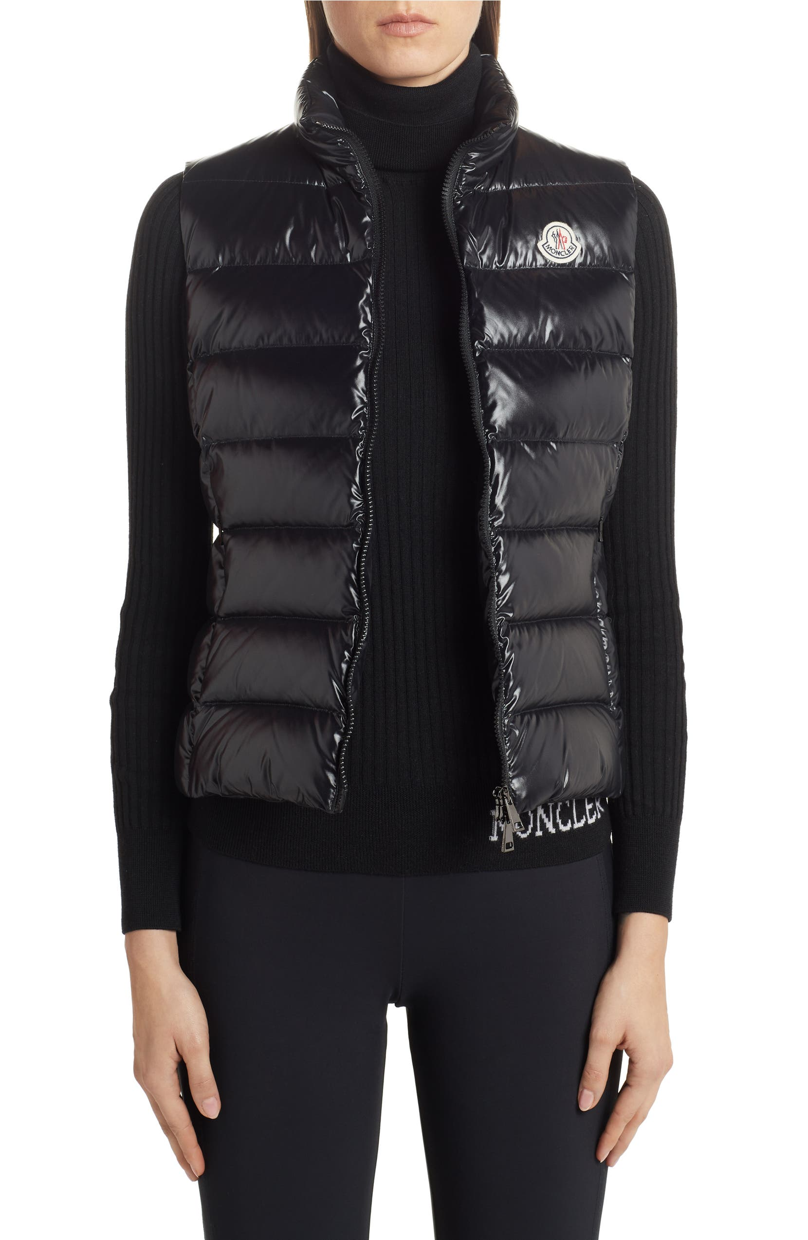 7994c45a411e Moncler Ghany Water Resistant Shiny Nylon Down Puffer Vest | Nordstrom