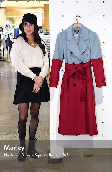 x Atlantic-Pacific Colorblock Wool Blend Coat, sales video thumbnail