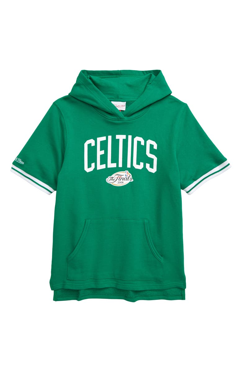 MITCHELL & NESS Boston Celtics French Terry Hoodie, Main, color, GREEN