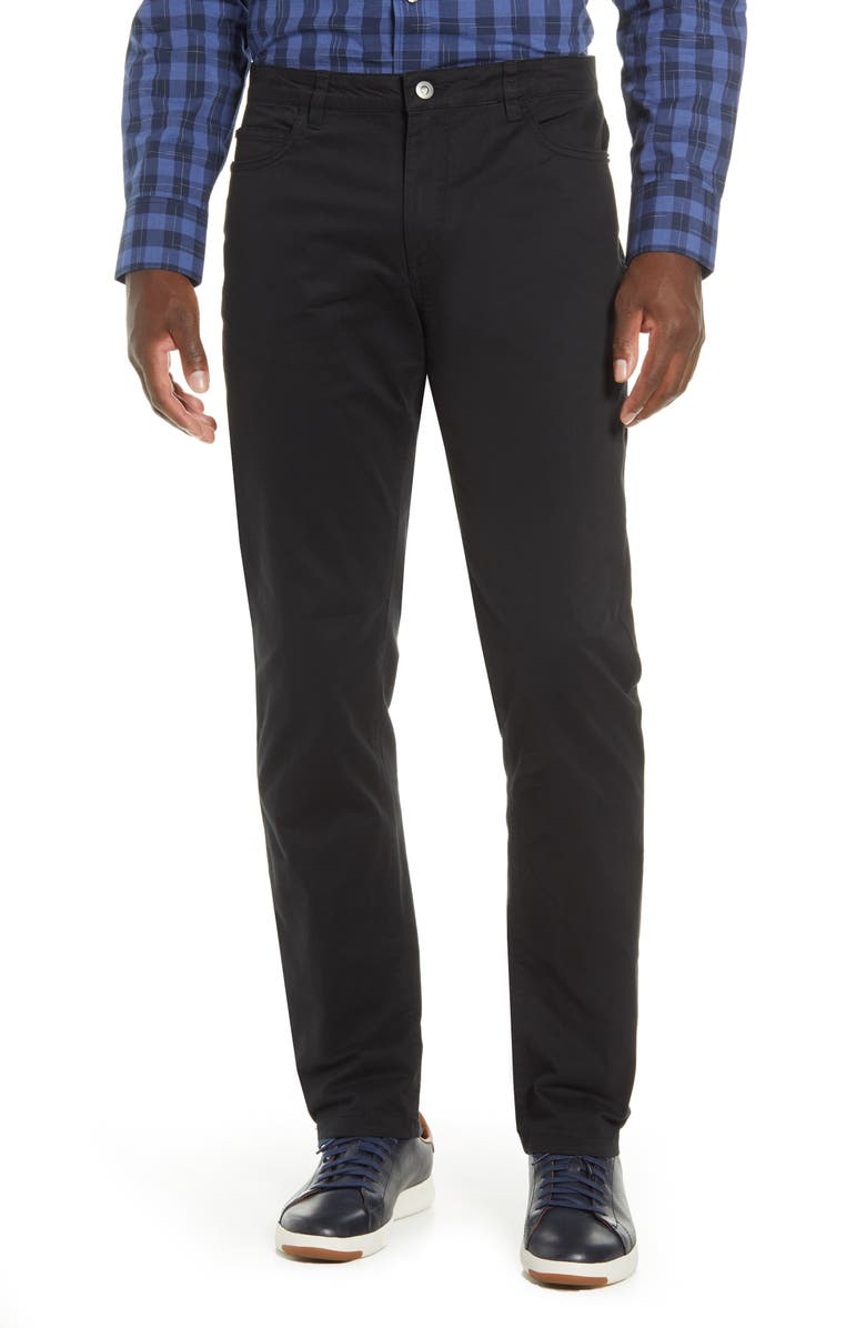 CUTTER & BUCK Voyager Straight Leg Pants, Main, color, BLACK