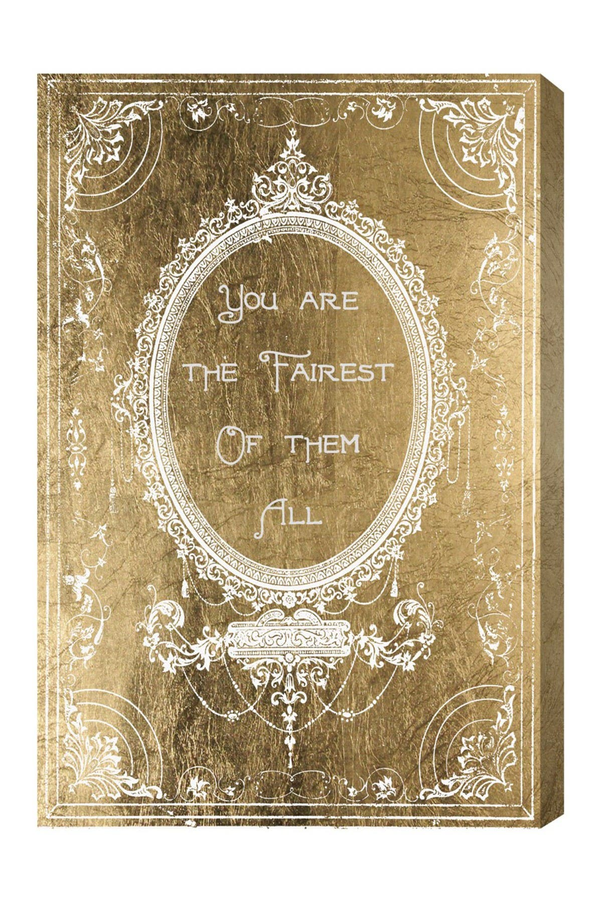 Image of Oliver Gal Gallery The Fairest Gold Canvas Art