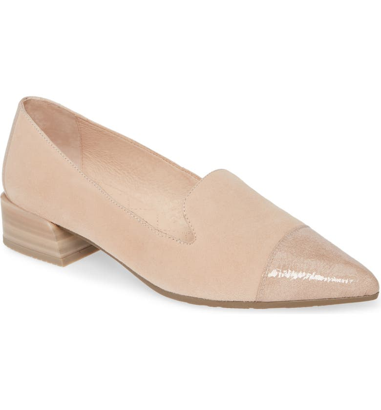 HISPANITAS Mint Pointy Toe Loafer, Main, color, ANTE TURRON LEATHER