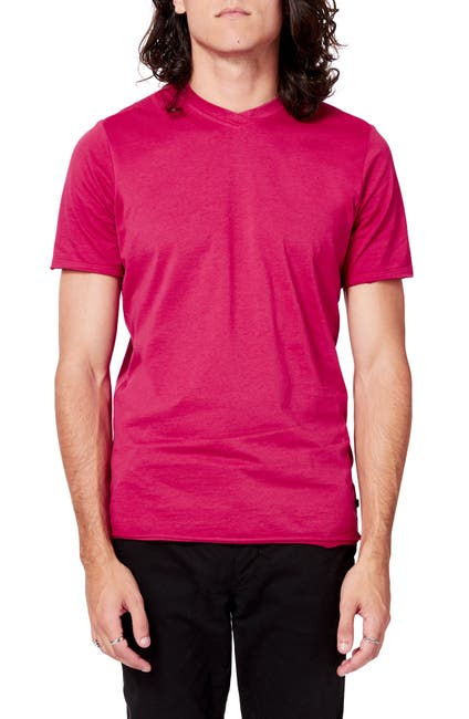 Image of Good Man Brand High V-Neck Short Sleeve Slim Fit T-Shirt