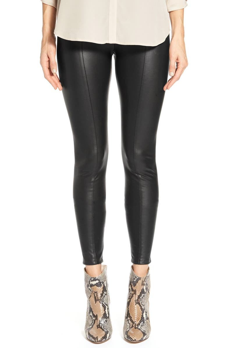 LYSSÉ High Waist Faux Leather Leggings, Main, color, 001