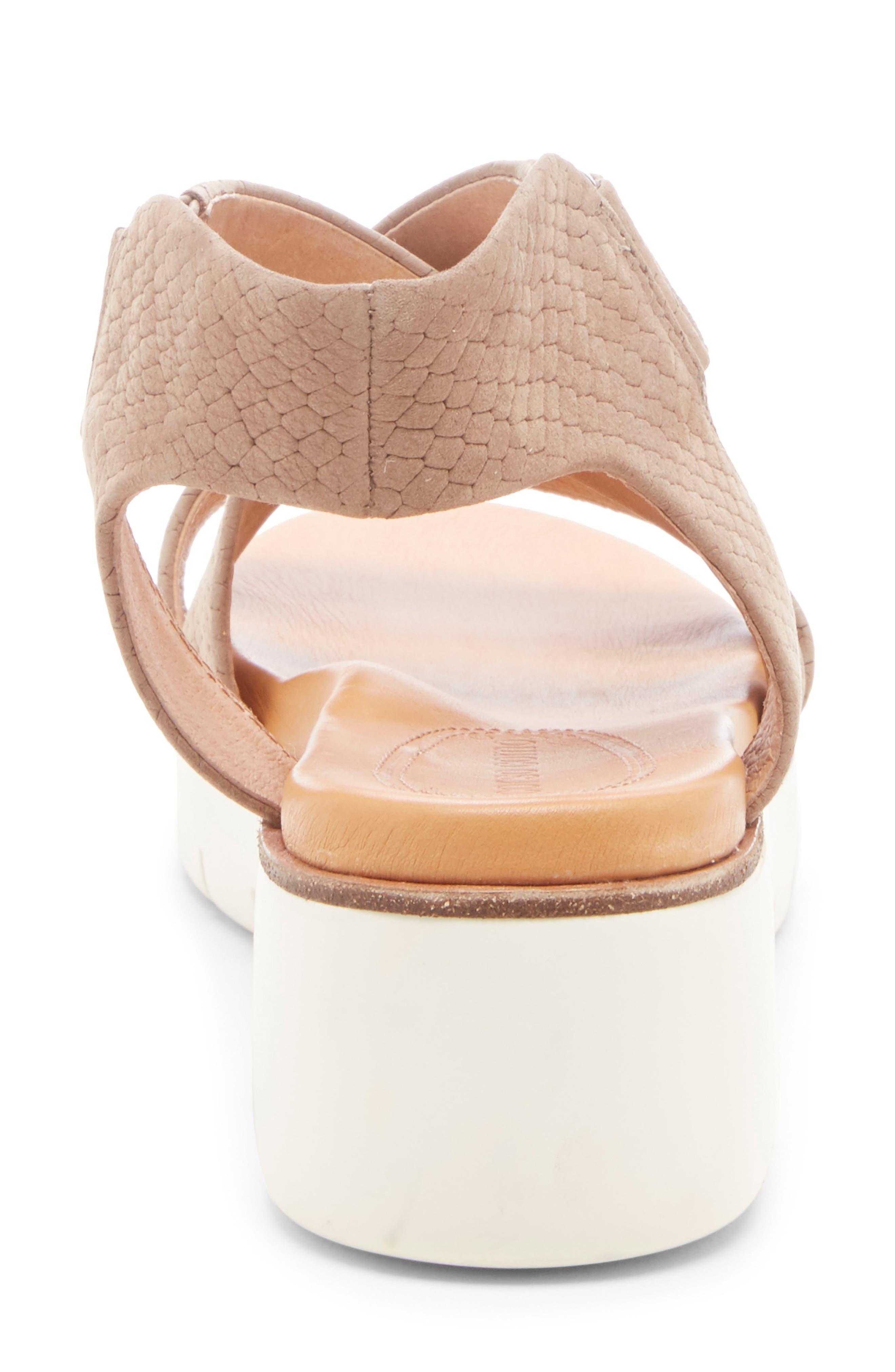 ,                             Bonneigh Platform Sandal,                             Alternate thumbnail 6, color,                             SMOKEY ASH EMBOSSED LEATHER