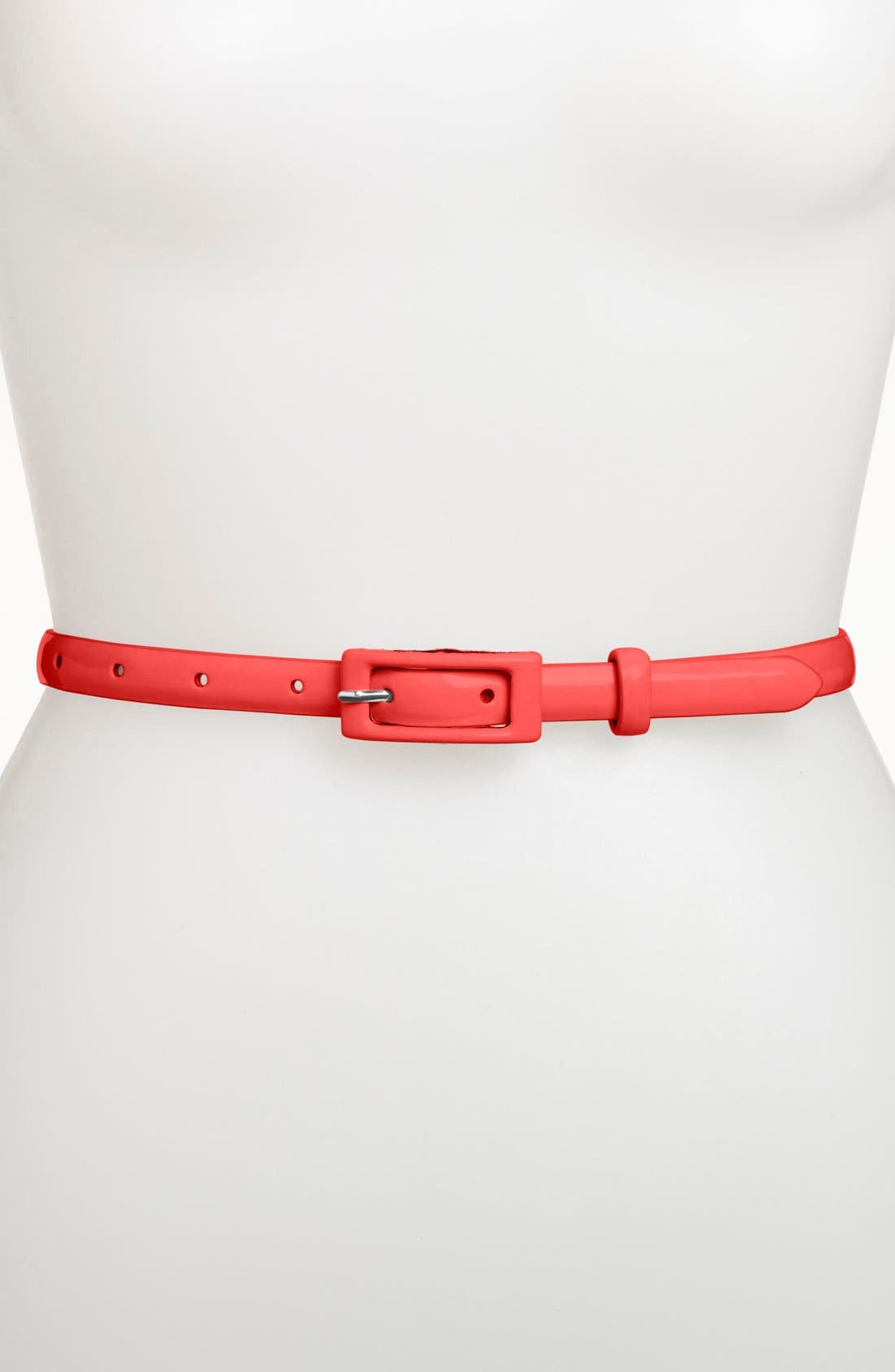 ,                             'Updated' Skinny Patent Belt,                             Main thumbnail 33, color,                             601