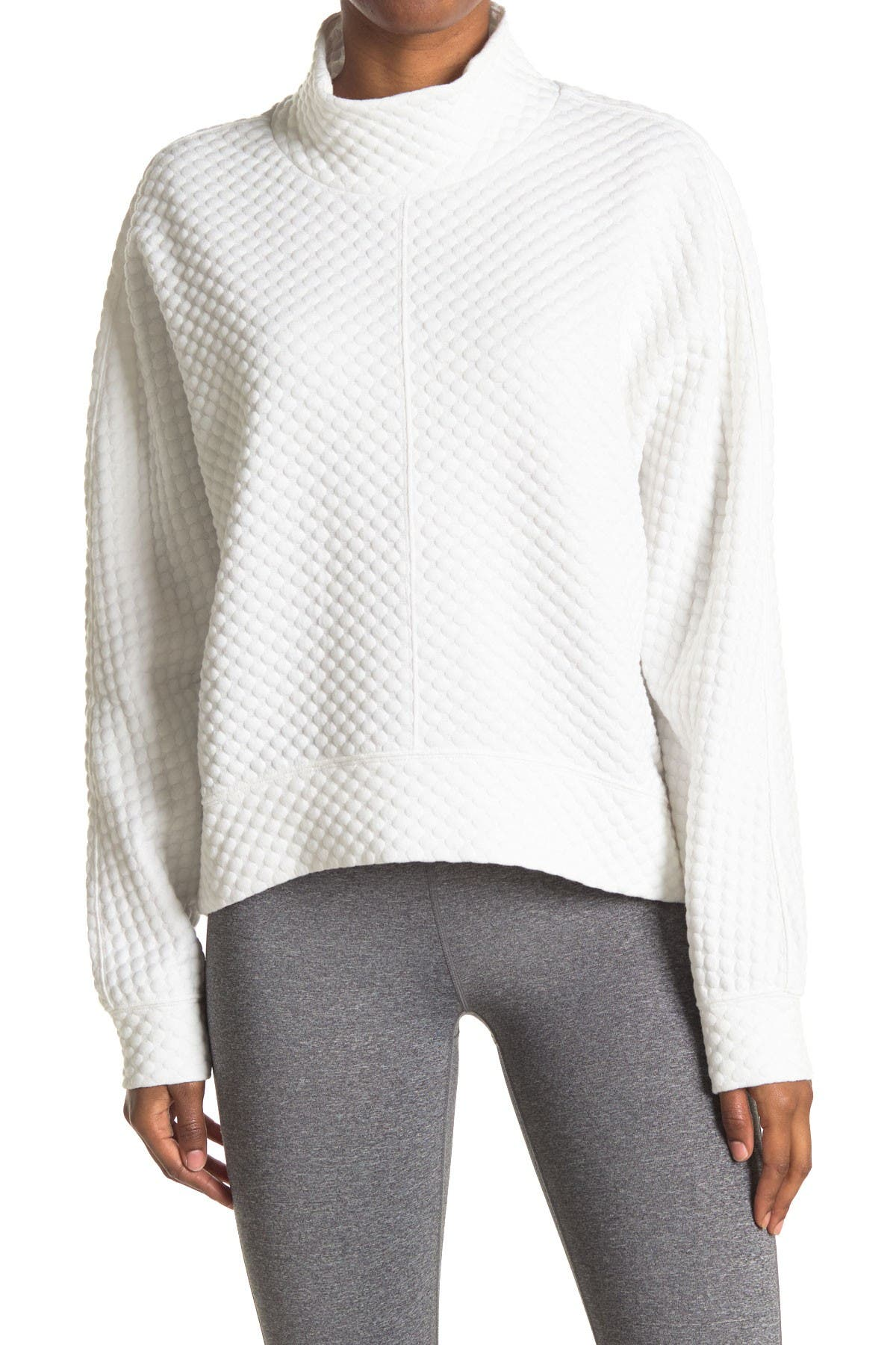 Image of Z By Zella Ivy Textured Mock Neck Sweater