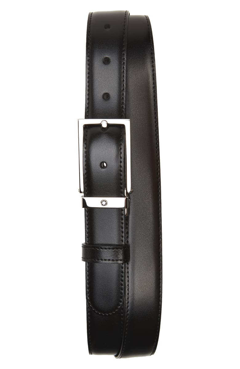 MONTBLANC Reversible Leather Belt, Main, color, BLACK/ BROWN
