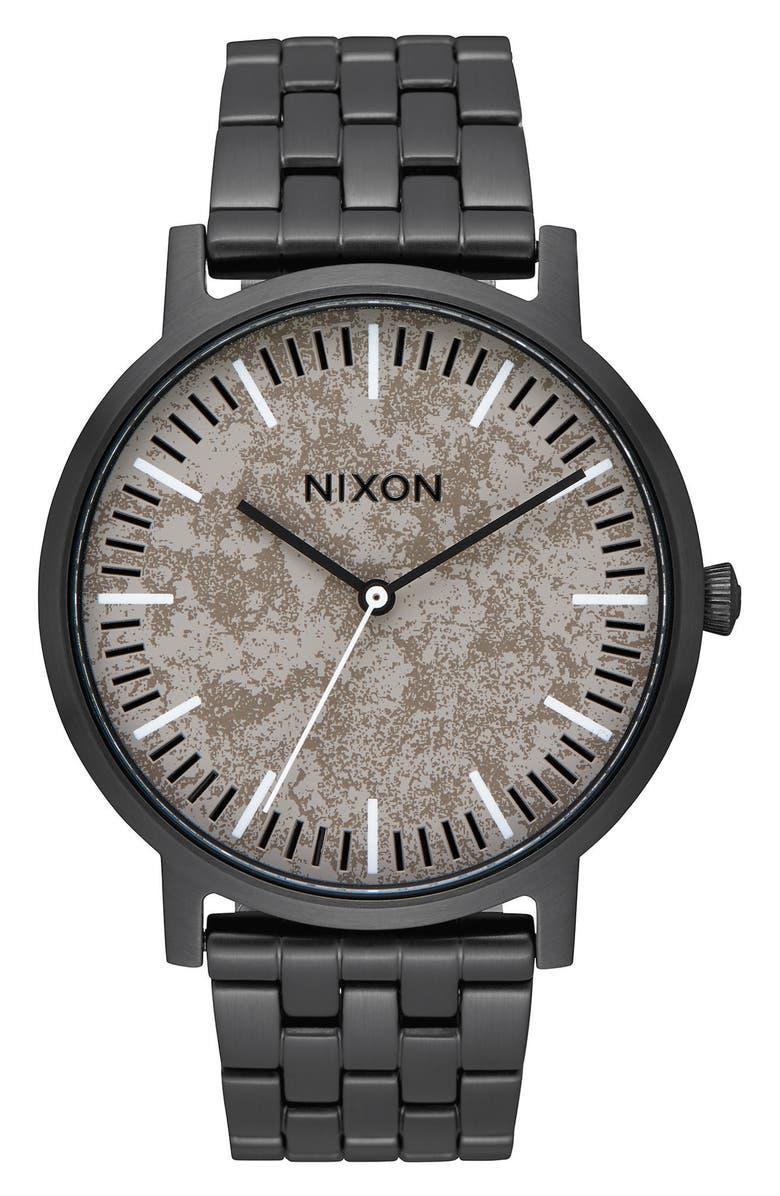 NIXON Porter Bracelet Watch, 40mm, Main, color, 010