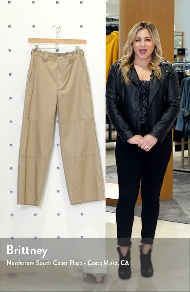 Seam Detail Cotton Twill Crop Pants, sales video thumbnail