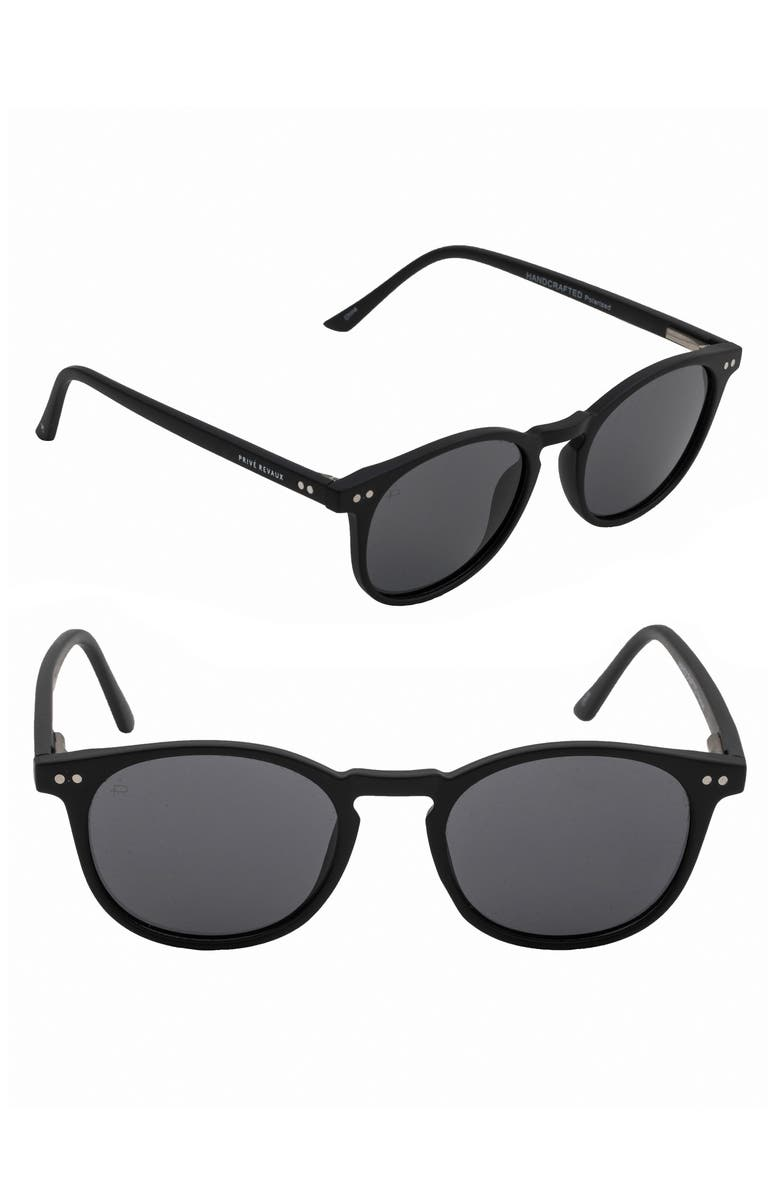PRIVÉ REVAUX The Maestro 48mm Polarized Sunglasses, Main, color, 001