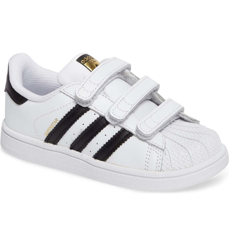 ADIDAS Superstar Sneaker, Main, color, WHITE/ BLACK/ WHITE