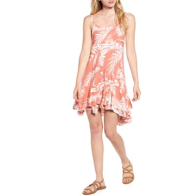 Lira Clothing Monterey Palm Print Minidress, Coral