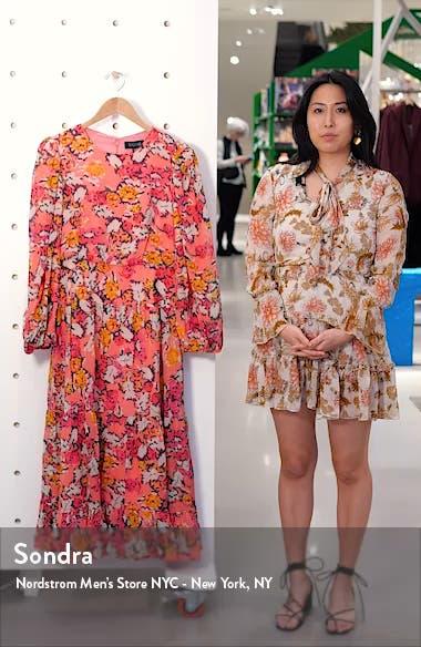 Isabel Floral Long Sleeve Silk Maxi Dress, sales video thumbnail