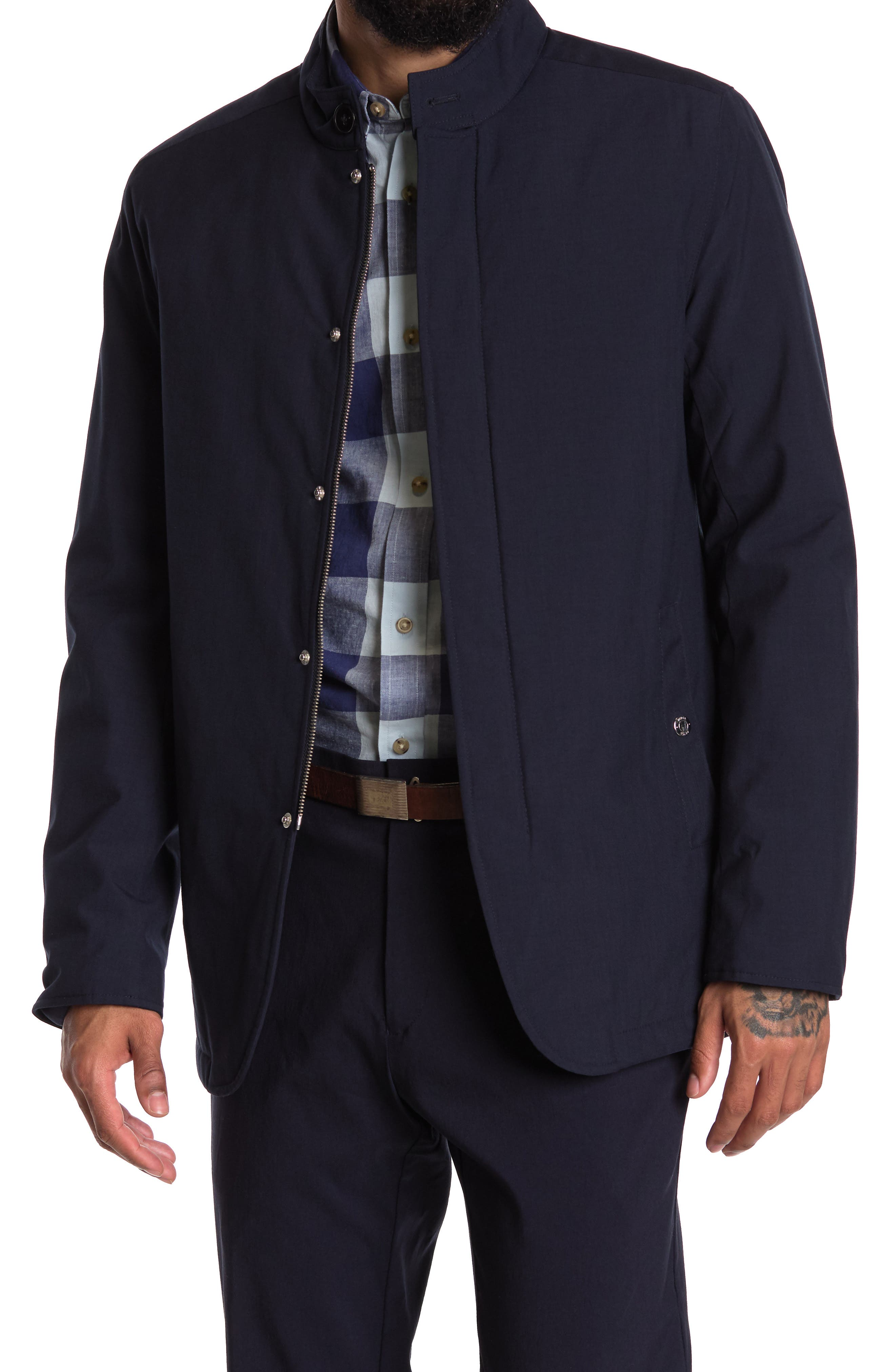 Image of REISS Quinn Quilted Harrington Jacket