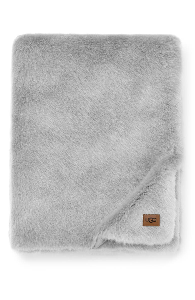 UGG<SUP>®</SUP> Shay Faux Fur Throw, Main, color, 020