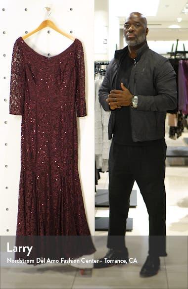 Lace & Sequin Trumpet Gown, sales video thumbnail