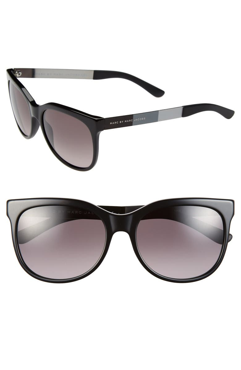 MARC BY MARC JACOBS 56mm Sunglasses, Main, color, 002