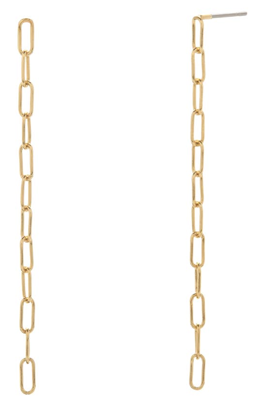 Brook & York Colette Mini Chain Linear Earrings In Gold