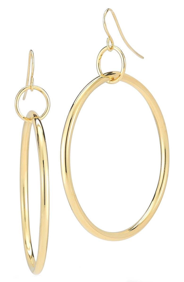 ELIZABETH AND JAMES 'Lueur' Frontal Hoop Earrings, Main, color, 710