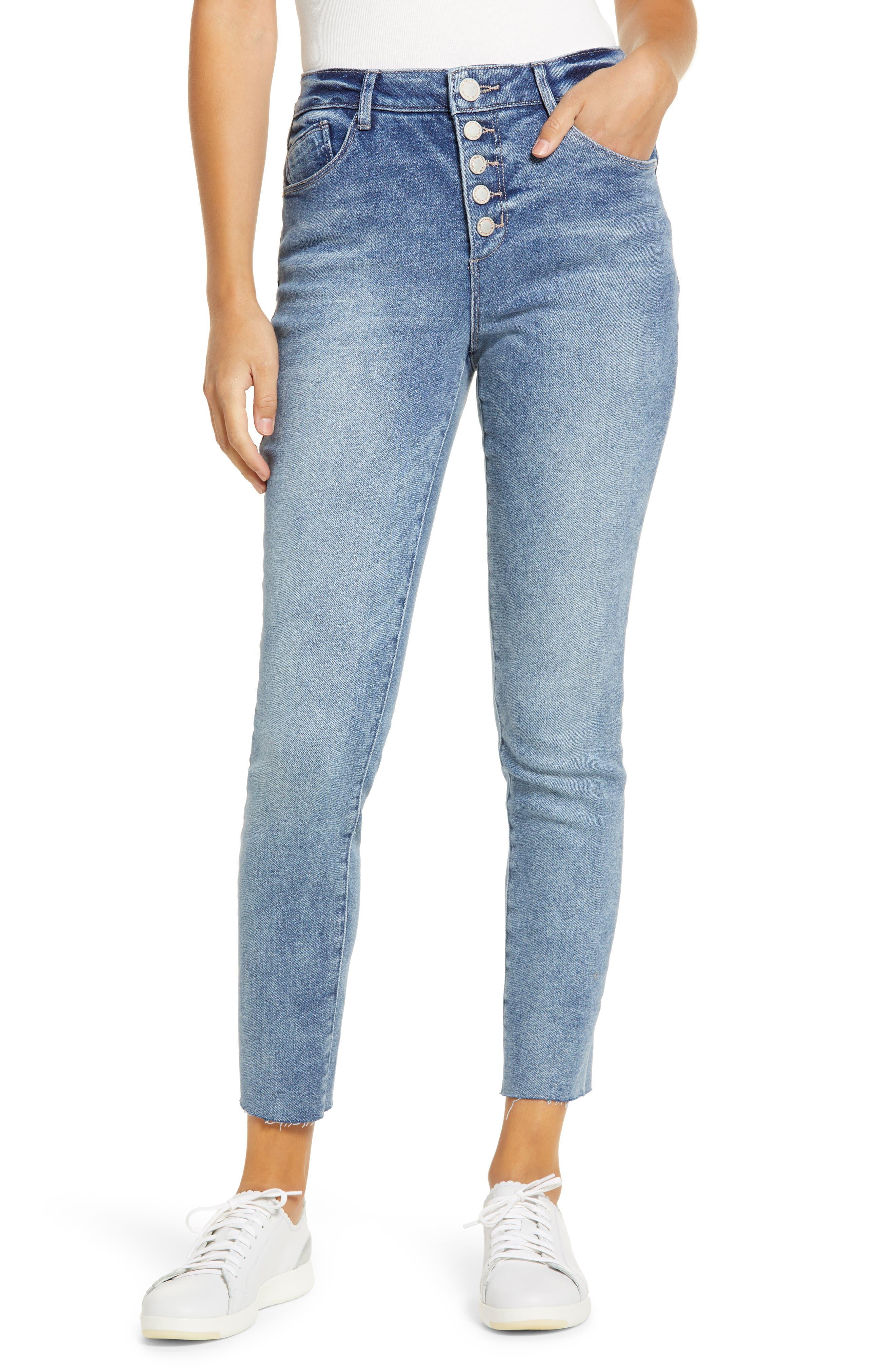 Wit & Wisdom Ab-Solution High Waist Crop Skinny Jeans (Regular & Petite) (Nordstrom Exclusive) | Nordstrom