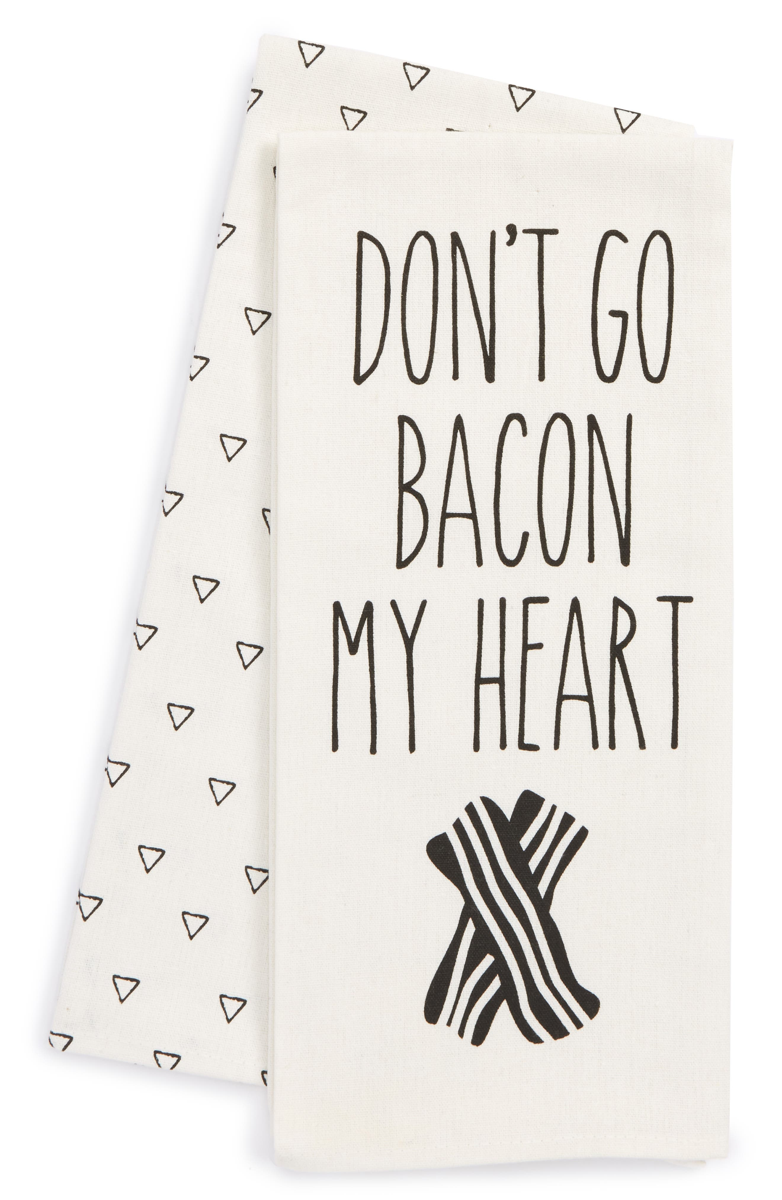 Levtex DonT Go Bacon My Heart Set Of 2 Dish Towels
