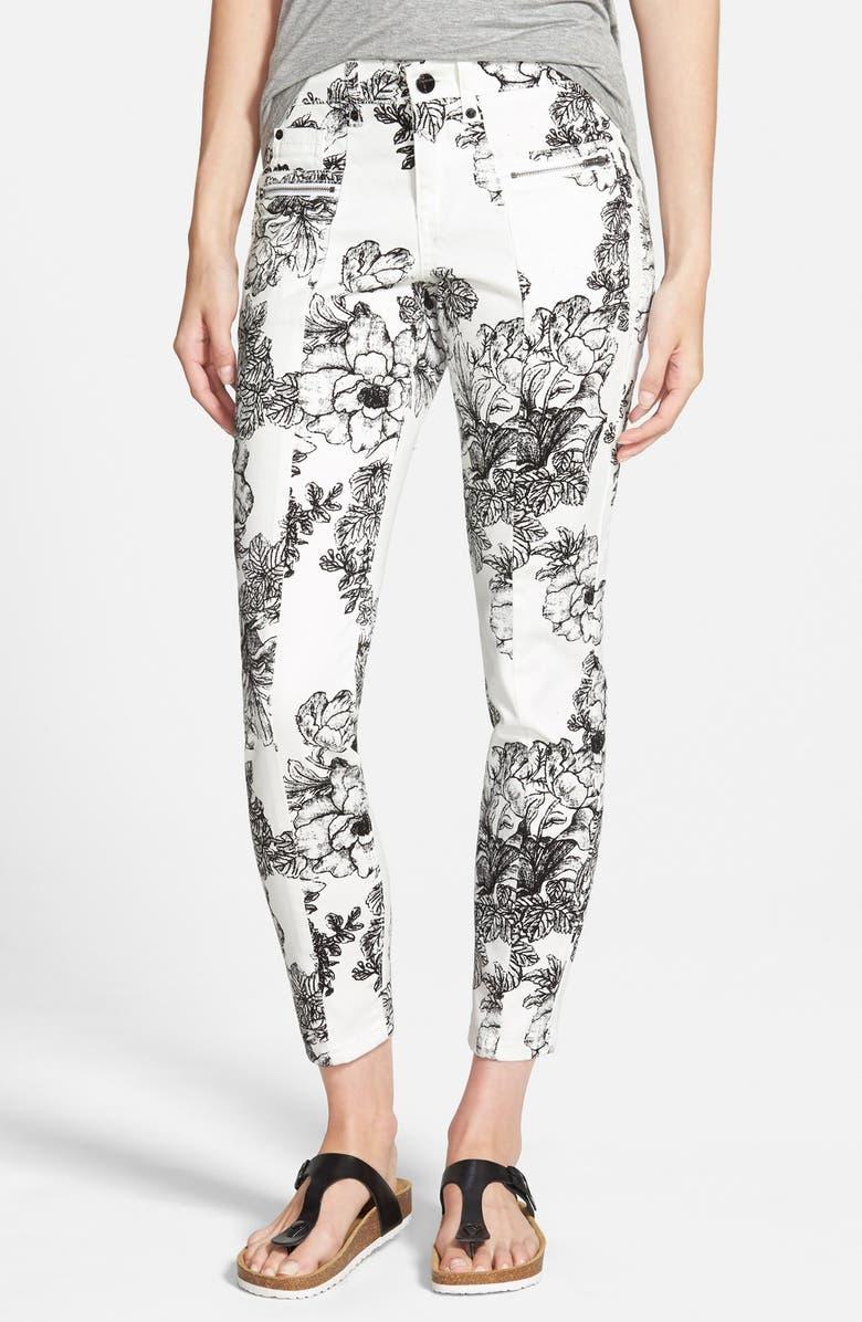 STANDARDS & PRACTICES Floral Print Skinny Jeans, Main, color, 100
