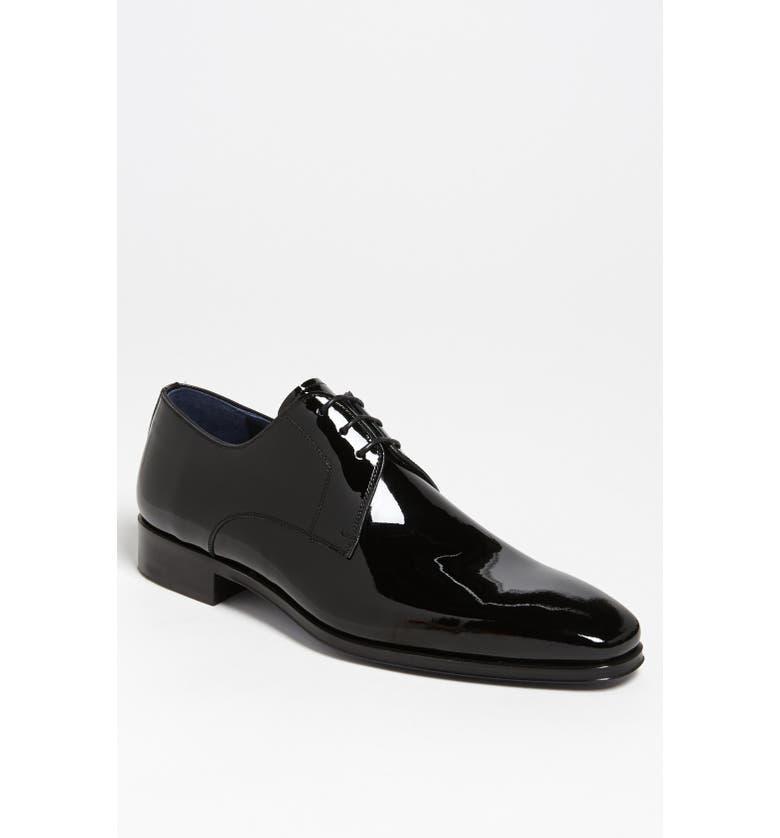 MAGNANNI Dante Patent Leather Derby, Main, color, BLACK
