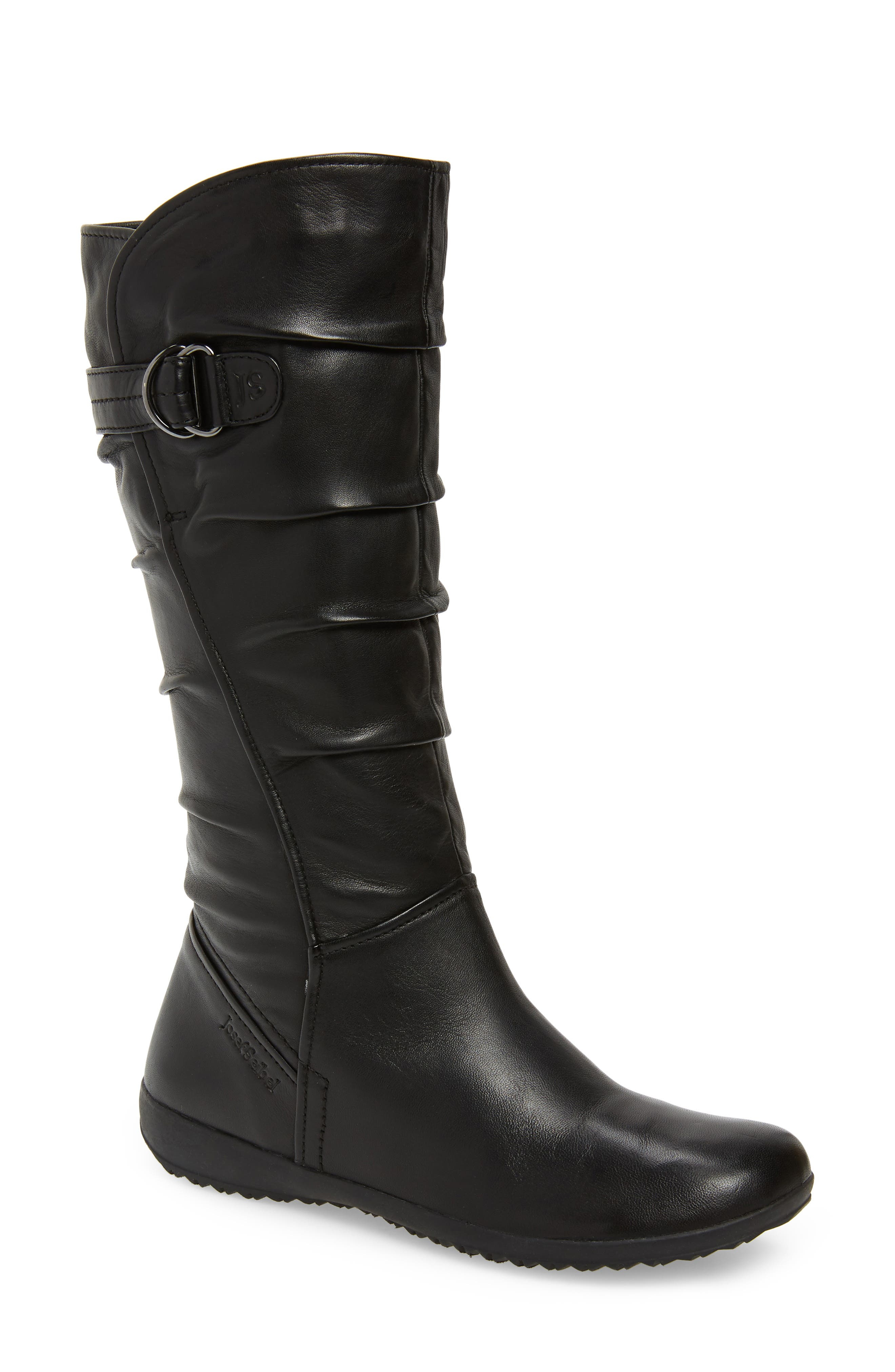 ,                             Naly 23 Boot,                             Main thumbnail 1, color,                             BLACK LEATHER