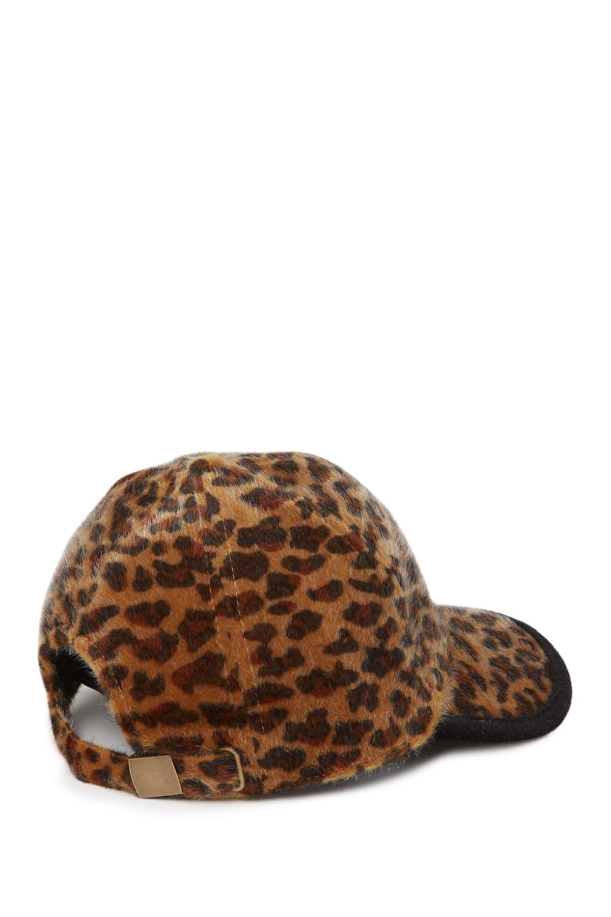 Image of August Hat Faux Calf Hair Baseball Cap