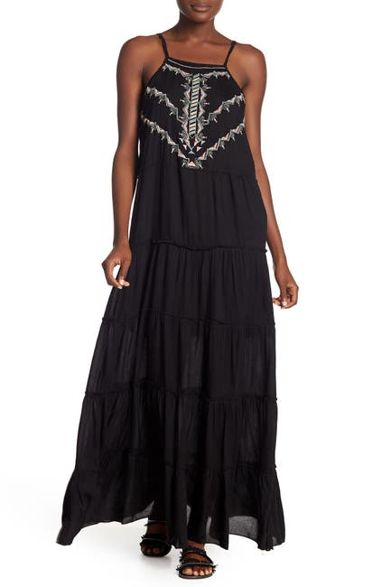 Image of BOHO ME Front Embroidered Maxi Dress