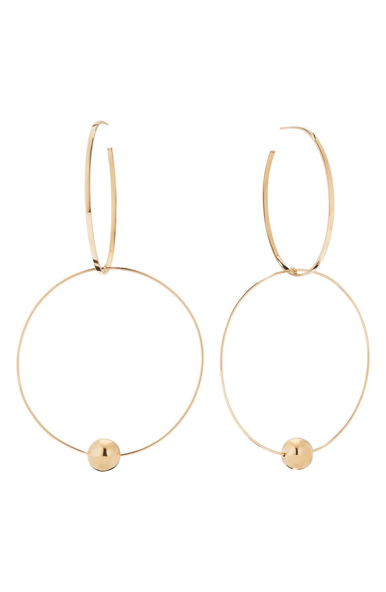 LANA JEWELRY Bond Link Double Hoop Earrings, Main, color, GOLD