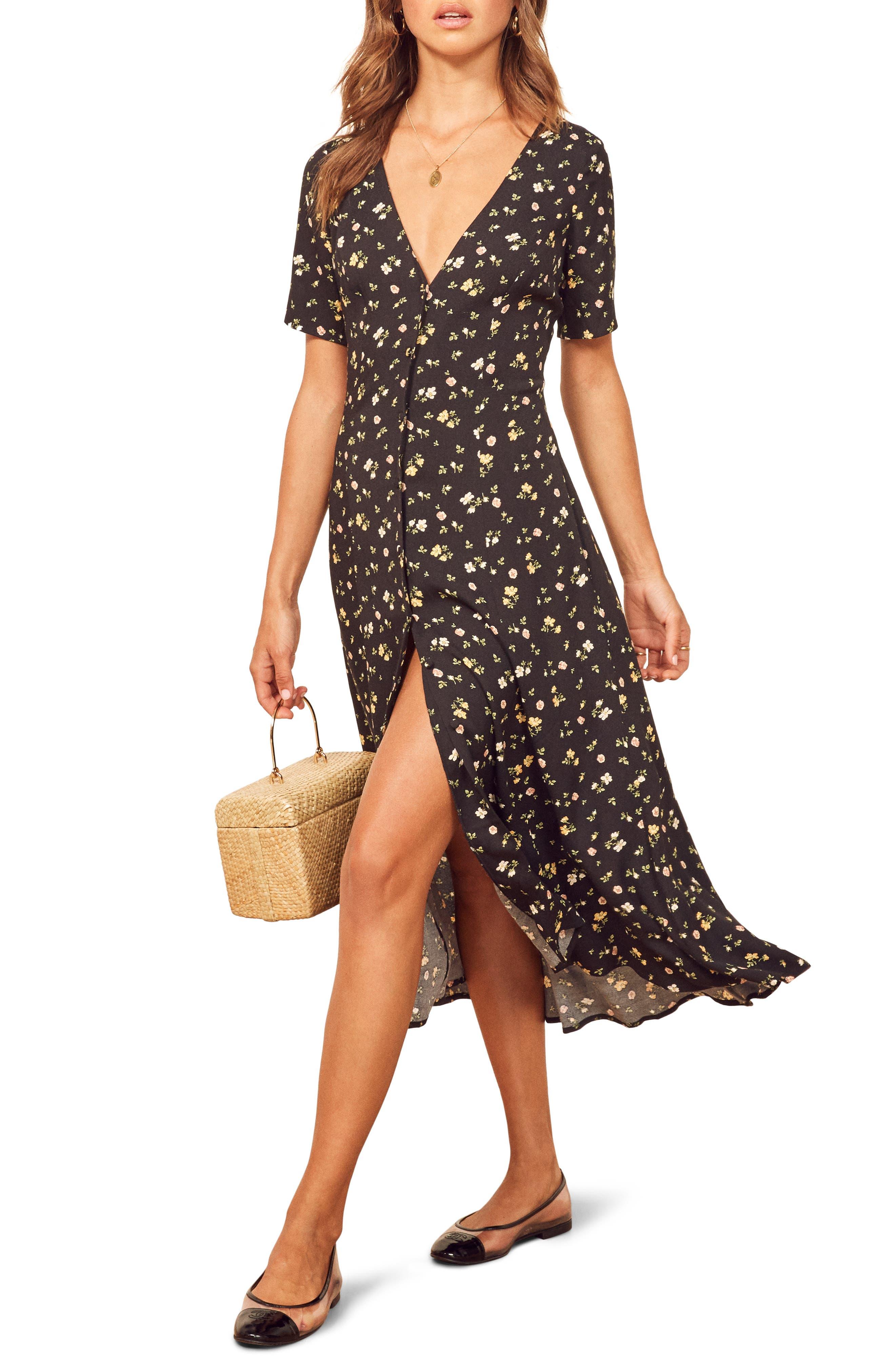 Reformation Locklin Dress, Black
