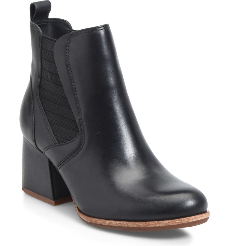KORK-EASE<SUP>®</SUP> Albin Bootie, Main, color, BLACK LEATHER