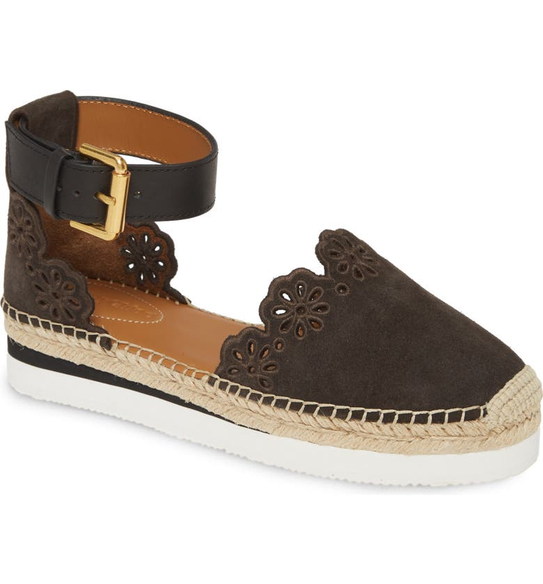 SEE BY CHLOÉ Glyn Espadrille Sandal, Main, color, GRAFITE