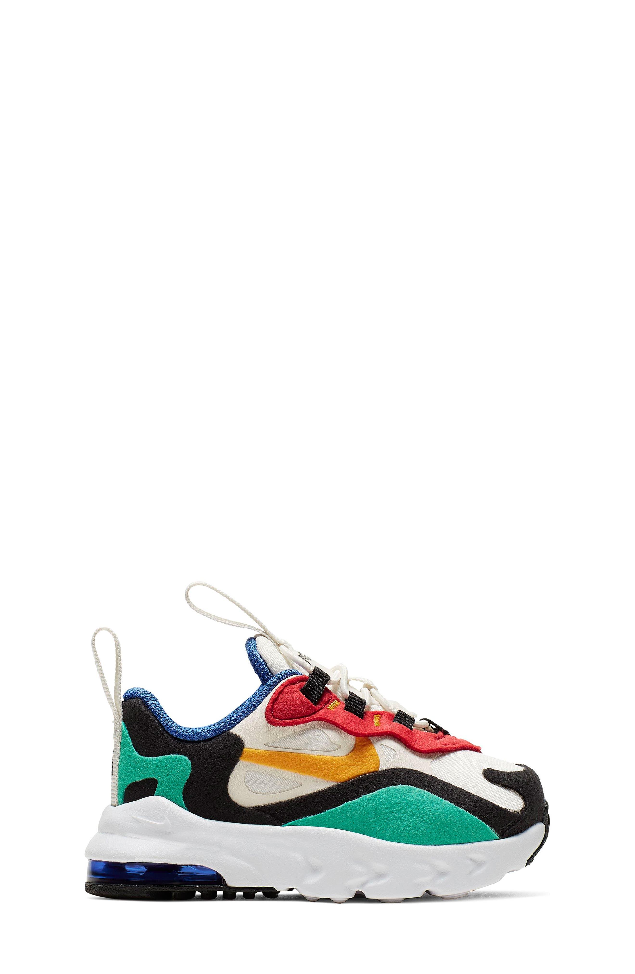 Toddler Girls Nike Air Max 270 React Sneaker Size 12 M  Black