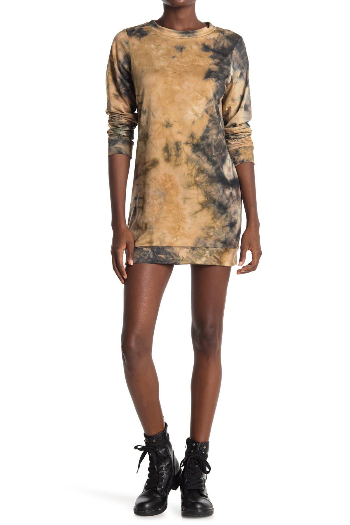 Image of Velvet Torch Tie Dye Shift Sweater Dress