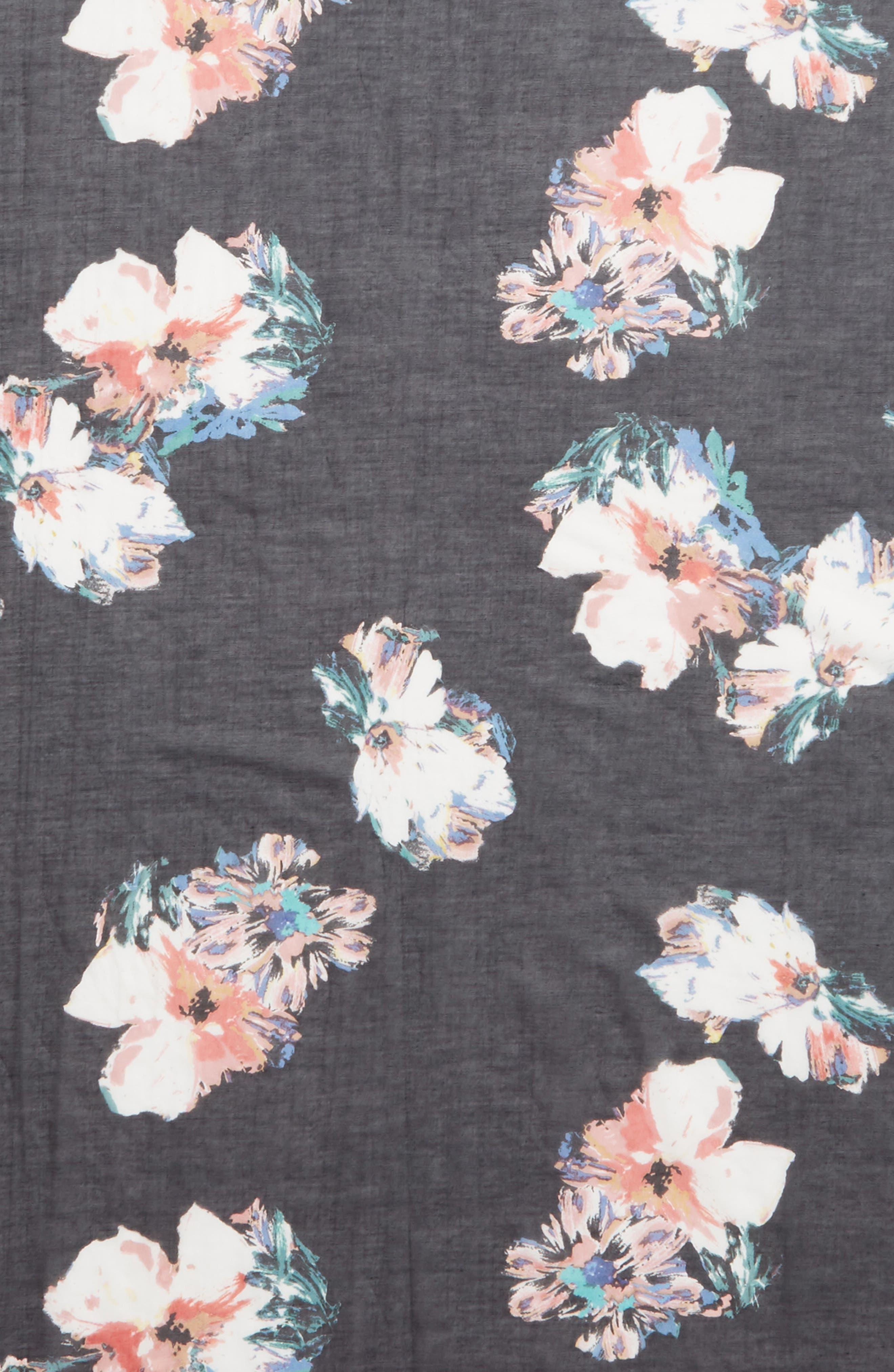 ,                             Violy Cotton & Silk Pareo,                             Alternate thumbnail 4, color,                             BLACK