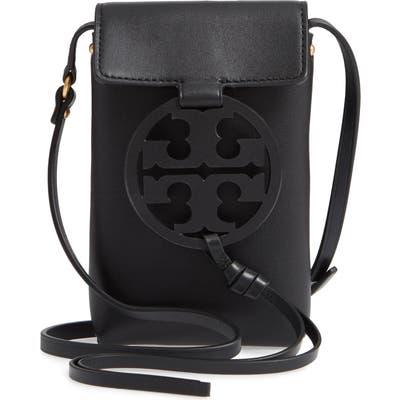 Tory Burch Miller Leather Phone Crossbody Bag - Black