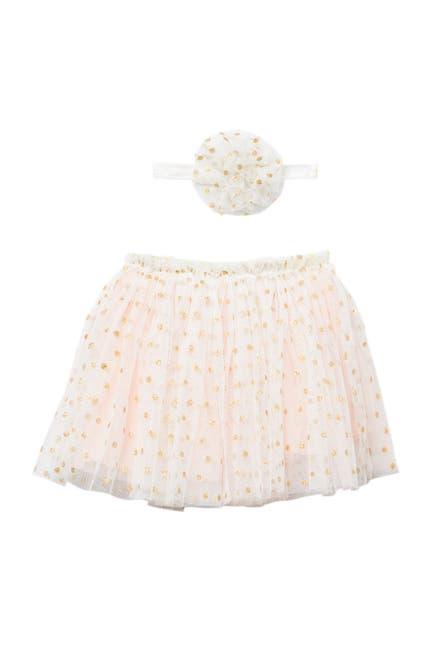 Image of Popatu Glitter Dots Tutu Skirt & Headband Set - 2-Piece