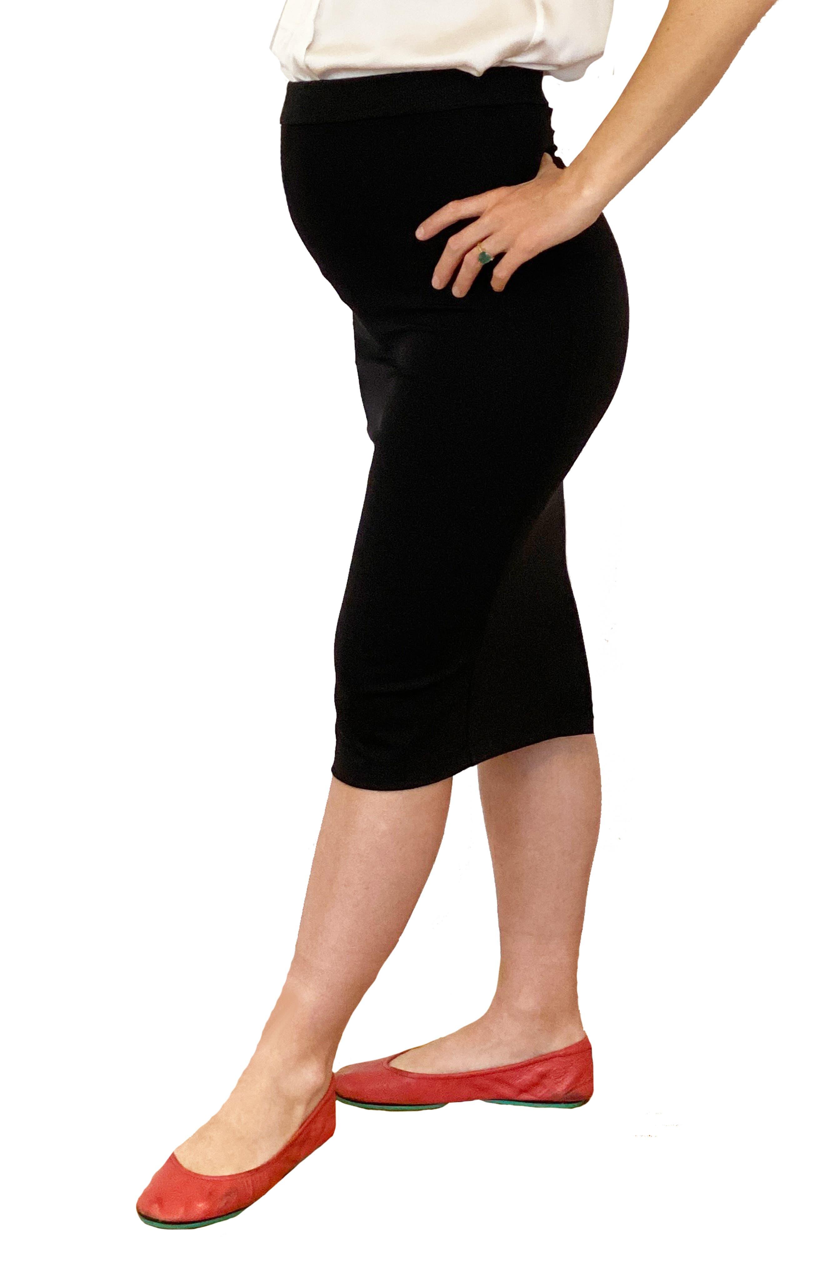 Hilary Body-Con Maternity Skirt