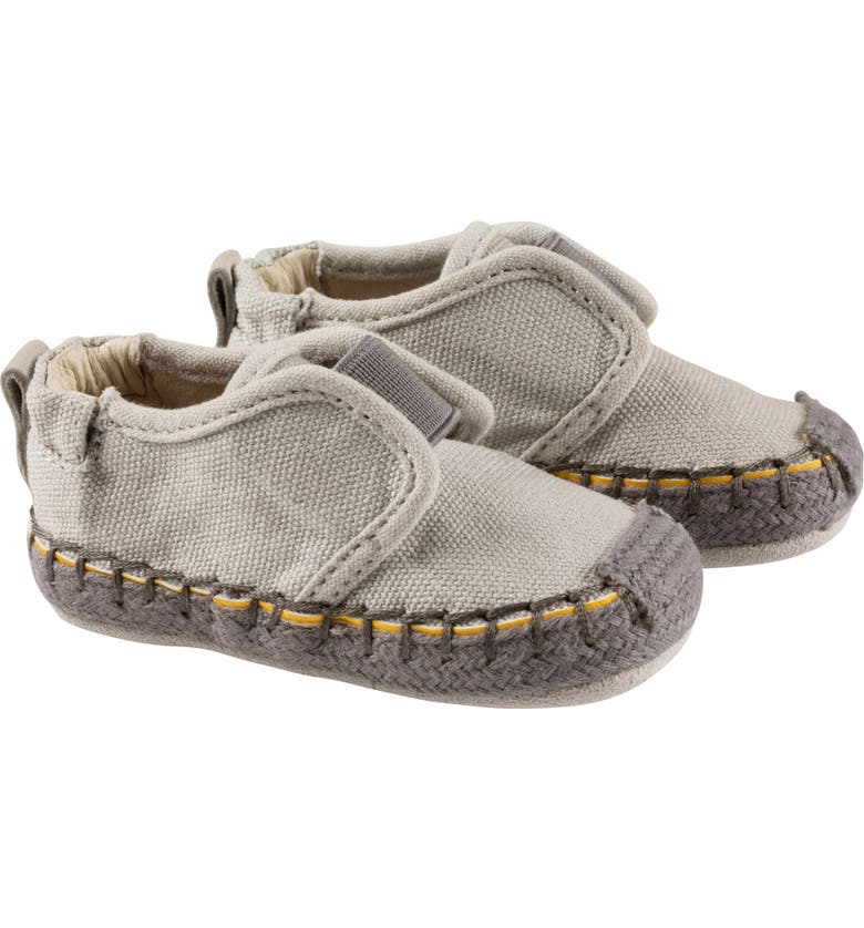 ROBEEZ<SUP>®</SUP> James Espadrille Crib Shoe, Main, color, GREY