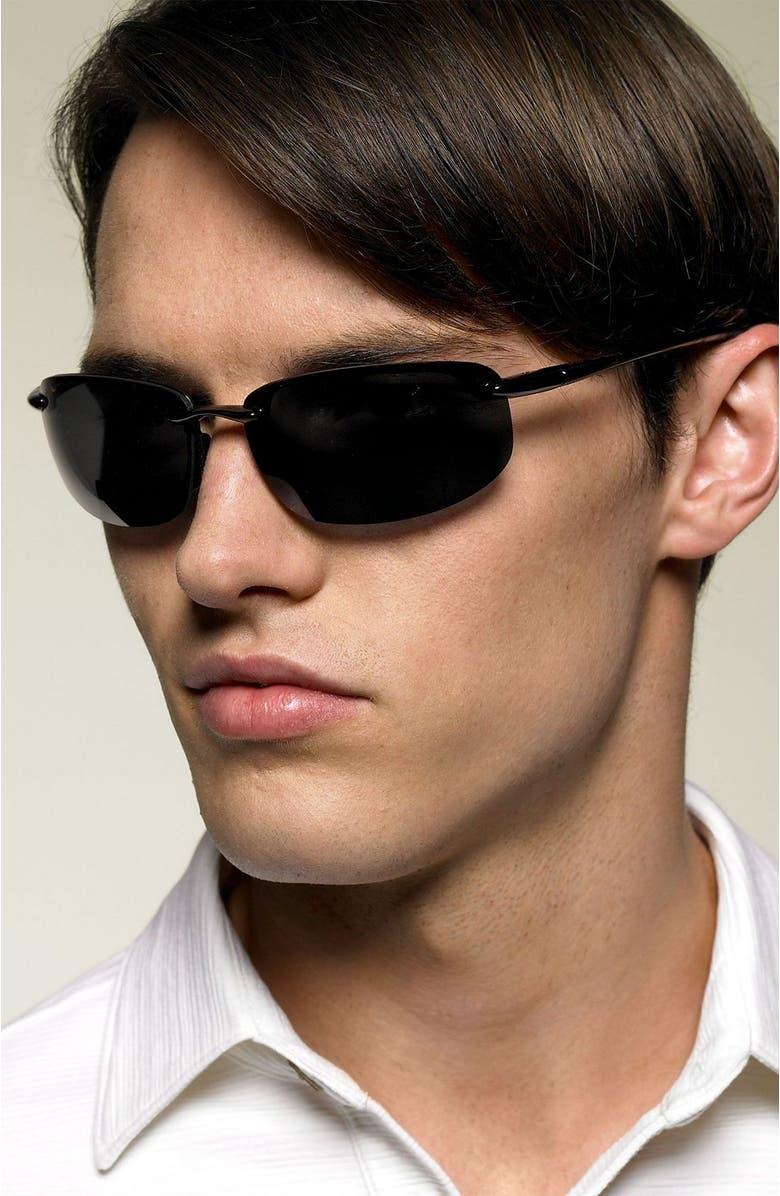 MAUI JIM 'Ho'okipa - 64mm PolarizedPlus<sup>®</sup>2' Reader Sunglasses, Main, color, BLACK / GREY