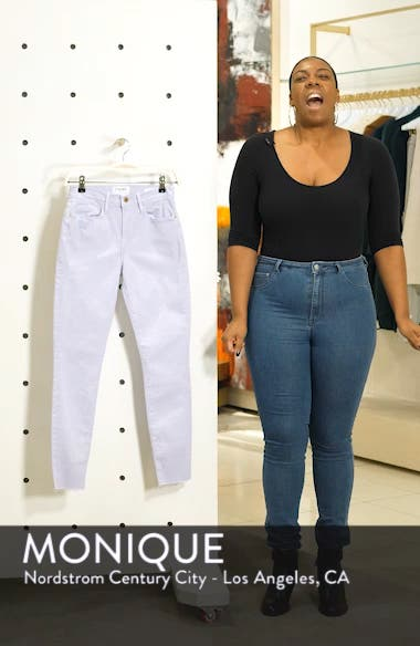 Le High Raw Hem Ankle Skinny Jeans, sales video thumbnail