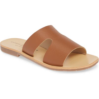 Chinese Laundry Mannie Slide Sandal, Brown
