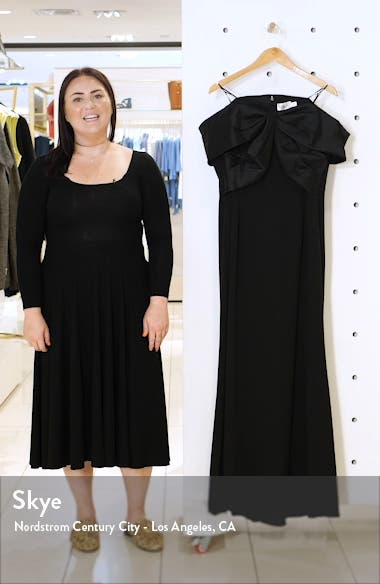 Off the Shoulder Scuba Crepe Gown, sales video thumbnail