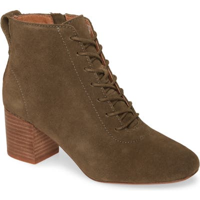 Madewell The Emilia Lace-Up Bootie, Green