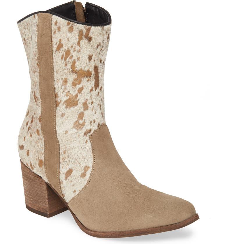 CHOCOLAT BLU Asa Western Boot, Main, color, TAUPE PRINT SUEDE