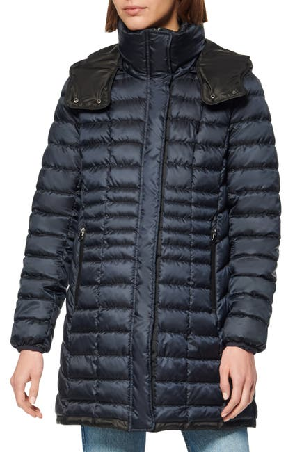 Image of Andrew Marc Quilted Packable Puffer Coat